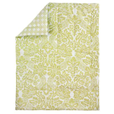 With a Flourish Baby Quilt (Green)