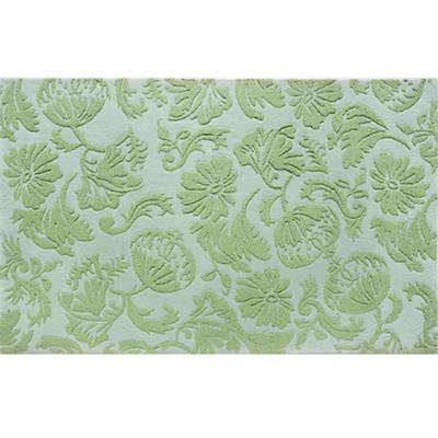 4 x 6' Raised Floral Rug (Lt. Green)