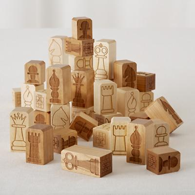 Chunky Chess Pieces
