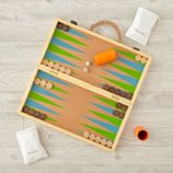 2-in-1 Backgammon and Checkers Game