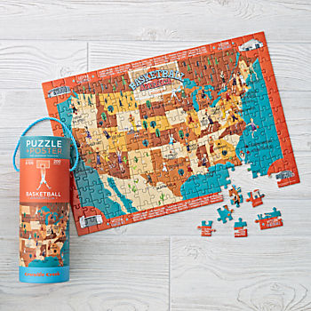 Basketball Puzzle (200 pc.) and Matching Poster
