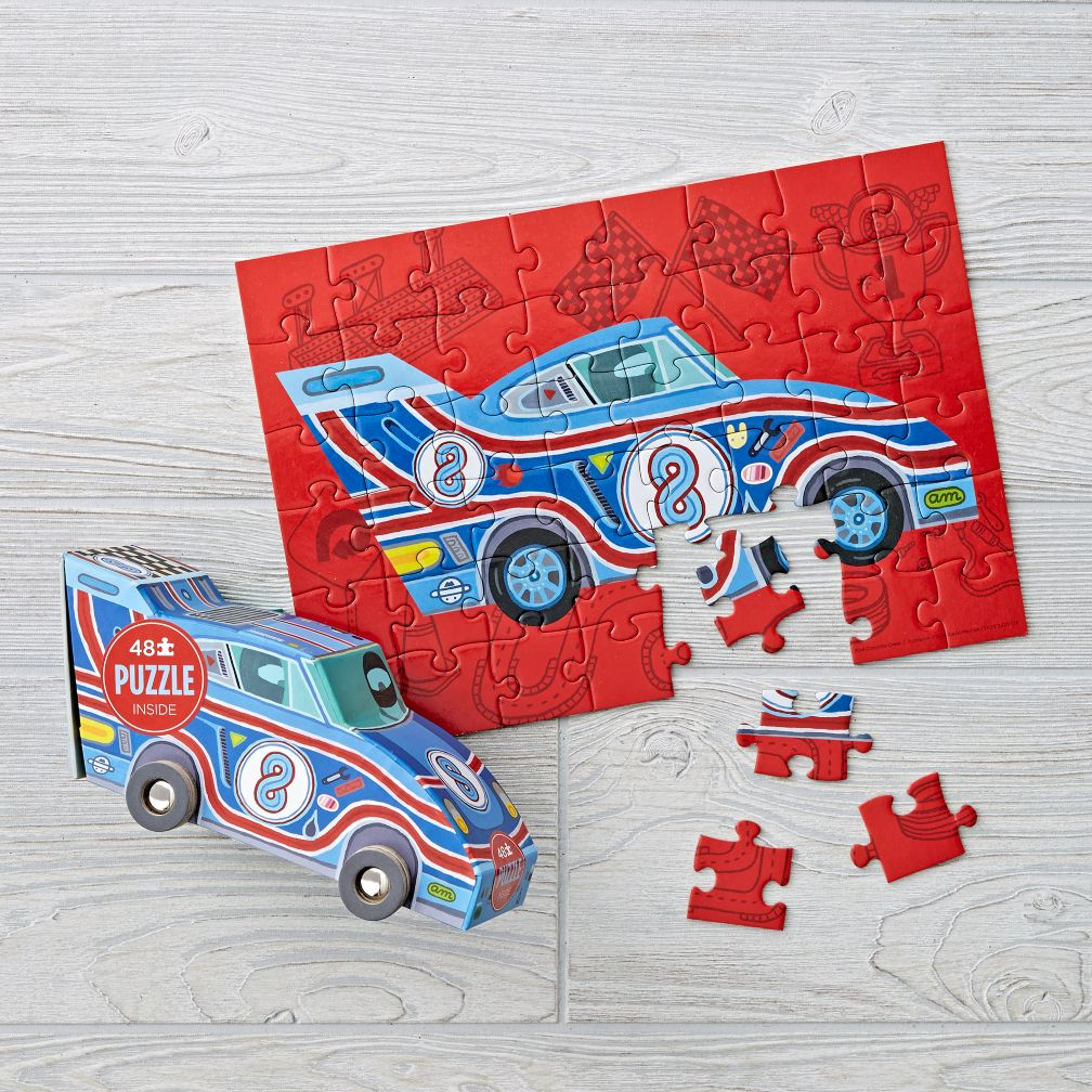 Racecar Puzzle and Play (48 pc.)