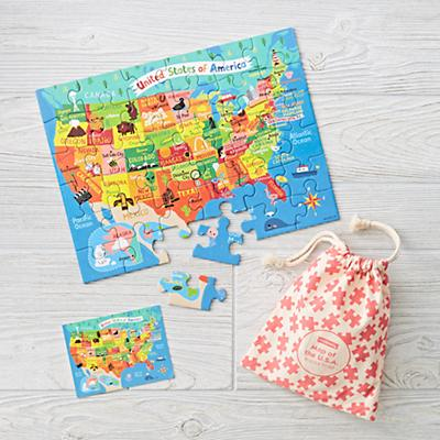 Map of the USA Puzzle to Go