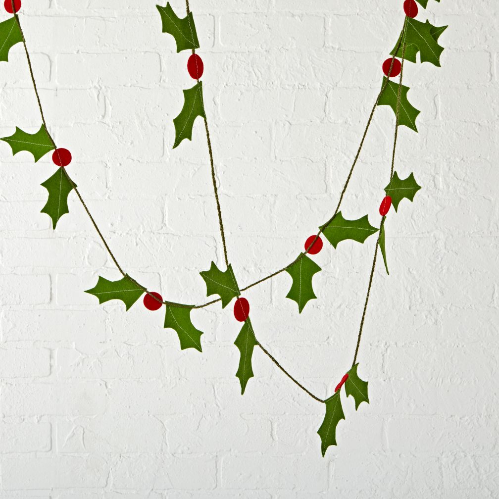 Boughs of Holly Christmas Garland