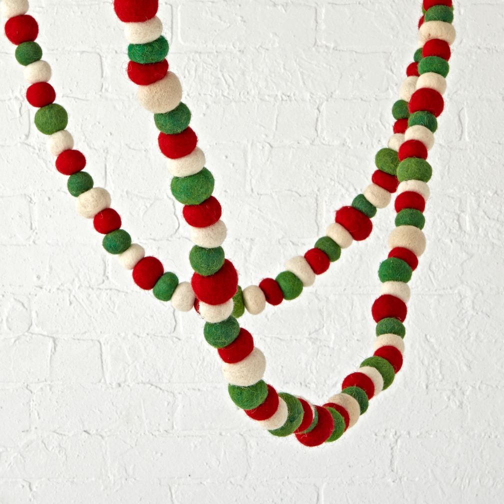 Festive Felt Traditional Garland