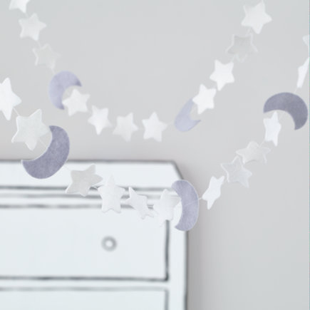 Night Sky Moon and Star Garland
