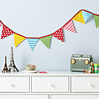 Patterned Pennant Fabric Garland