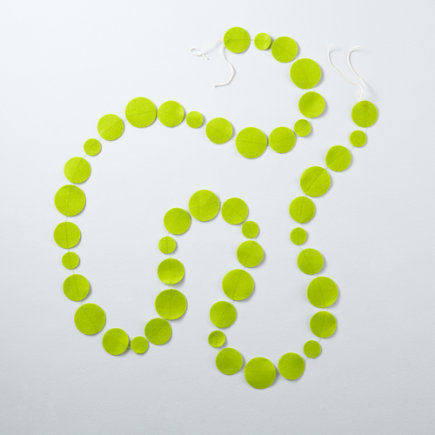 Kids Room Hanging Decor: Colorful Lime Green Shape Circle Garland - Lime Green Circle Garland