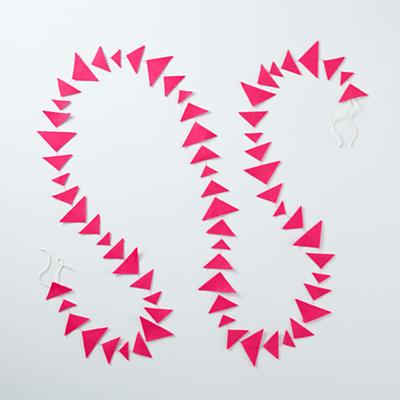 Hot Pink Triangle Garland