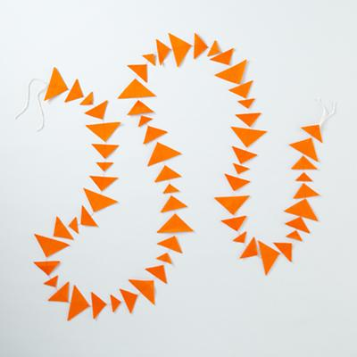 Orange Triangle Garland