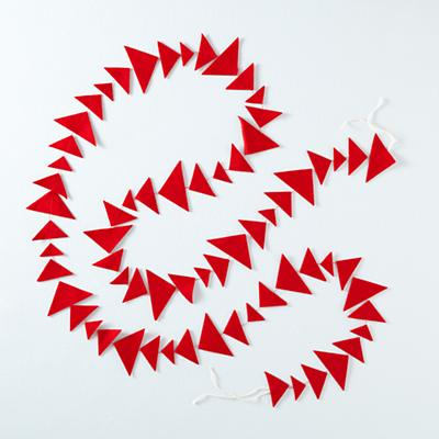 Red Triangle Garland