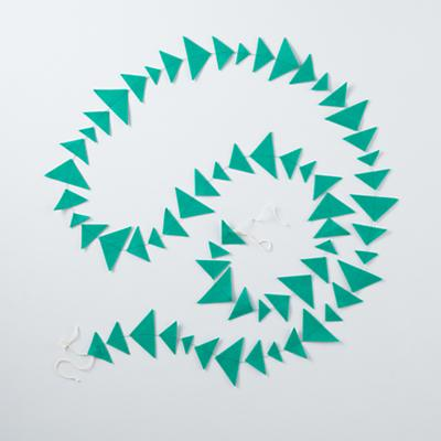Teal Triangle Garland