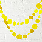 Bright Yellow Circle Garland