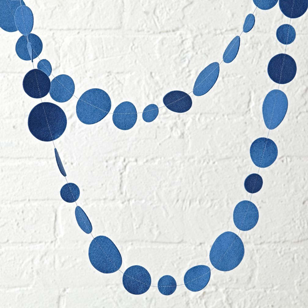 Dark Blue Circle Garland