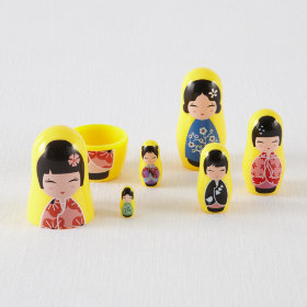 Mini Nesting Dolls (Kokeshi)