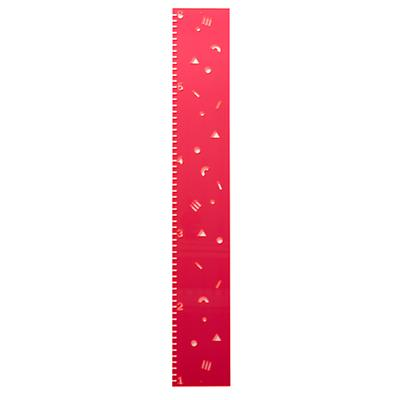 Clear-Cut Growth Chart (Pink)