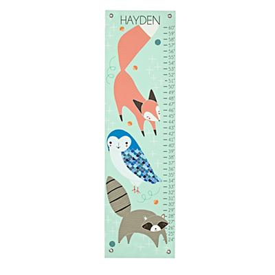 Personalized Animal Trio Growth Chart
