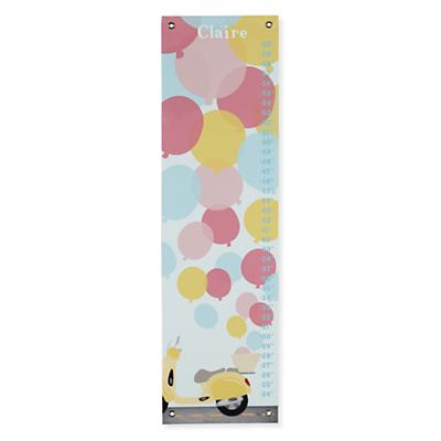 Personalized Vintage Balloons Growth Chart