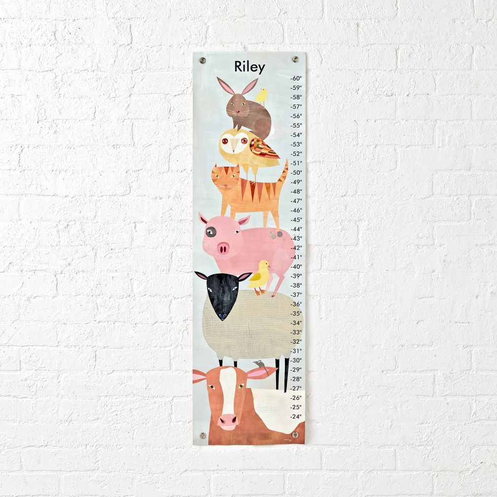 Barnyard Animals Growth Chart