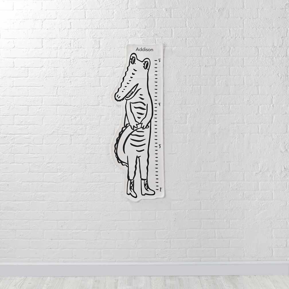 Personalized Dapper Growth Chart (Crocodile)