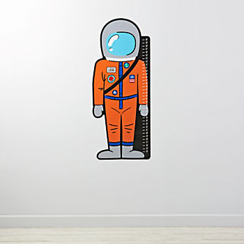 Personalized  Astronaut Decal Growth Chart
