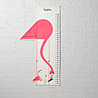 Personalized Flamingo Charley Harper Growth Chart