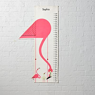 Personalized Charley Harper Growth Chart (Flamingo)