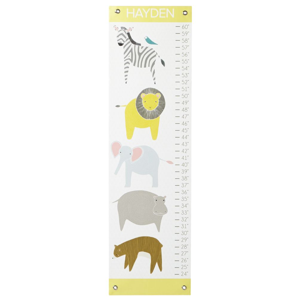 Personalized Stackable Animals Growth Chart
