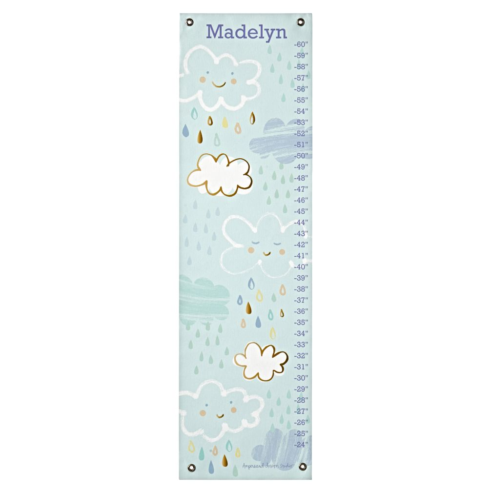Personalized Happy Clouds Growth Chart