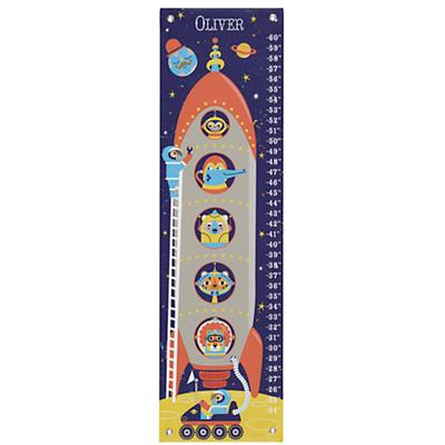 Personalized Moon Rocket Growth Chart