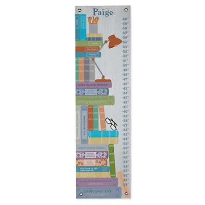 Personalized Stack of Books Growth Chart