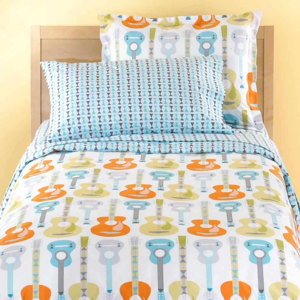 Guitar Bedding  Toddlers on Land Of Nod Dream On Bedding