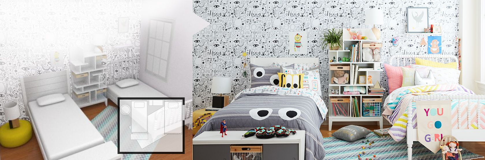 Kids  amp  Baby Furniture  Bedding and Toys   The Land of Nod  Design Services room design