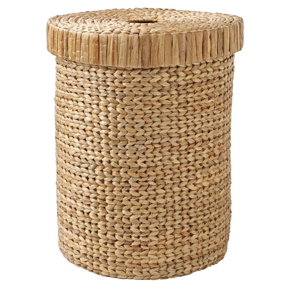 Natural wonderful wicker laundry hamper the land of nod - Rattan clothes hamper ...