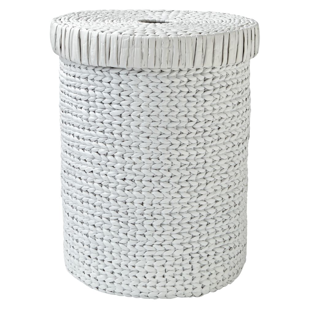 Wonderful Wicker White Hamper