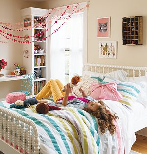 Twin Sherbet Stripes Duvet Cover<br />