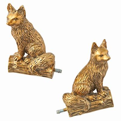 Fox Curtain Finial (Set of 2)