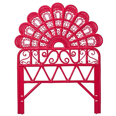 Twin Princess Plume Woven Headboard (Hot Pink)