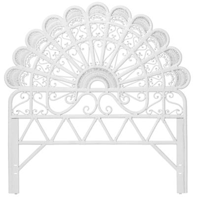 Full Princess Plume Woven Headboard (White)