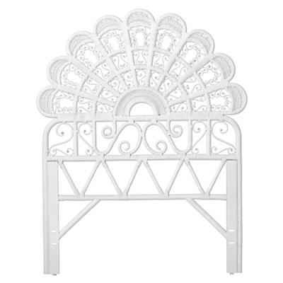 Twin Princess Plume Headboard (White)