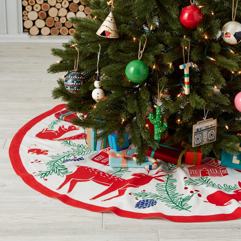 Festive Folklore Tree Skirt