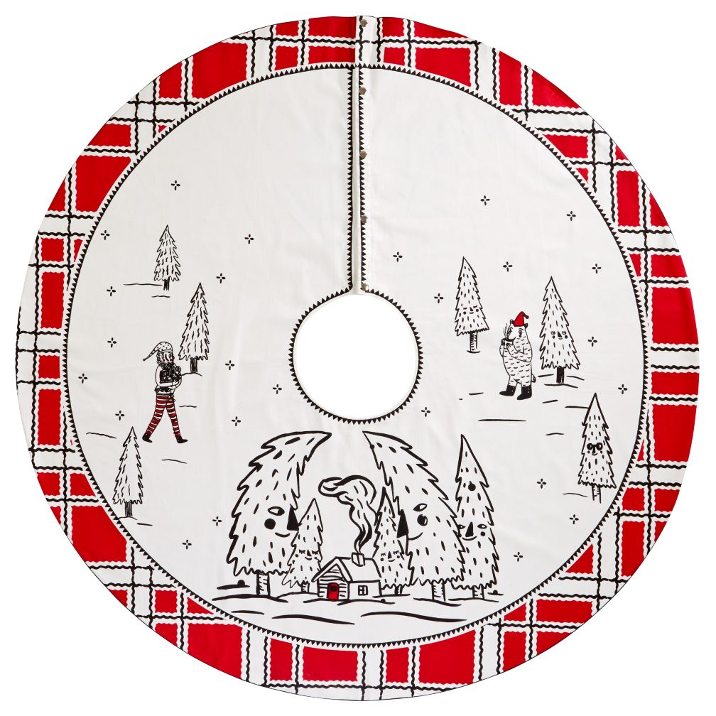 Yuletide Spirit Tree Skirt