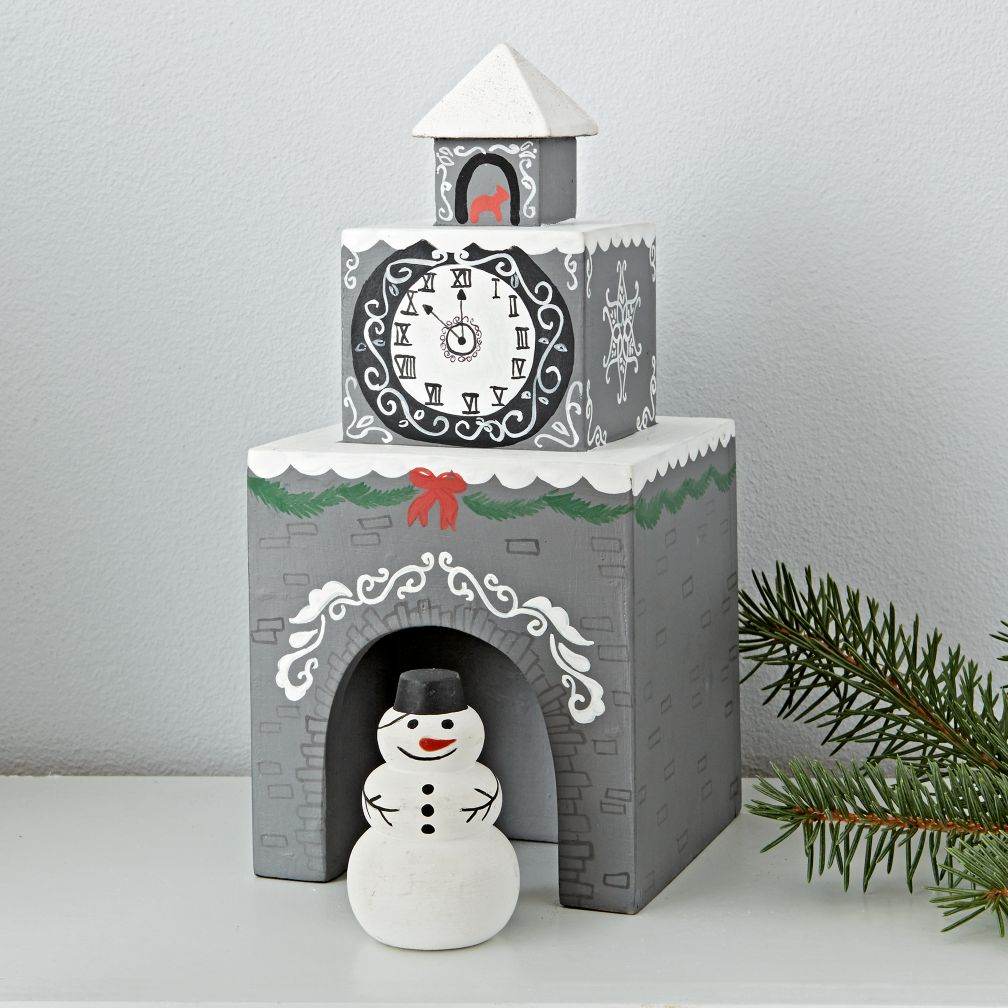 Snowman Village Decor