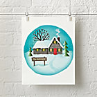 Winter House Personalized Wall Art