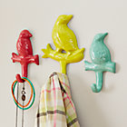 Set of 3 Multi Bird Wall Hooks