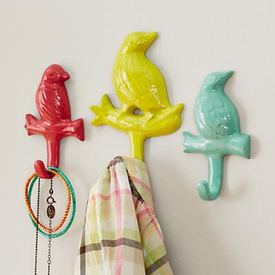 Birdwatcher Wall Hooks (Set of 3)