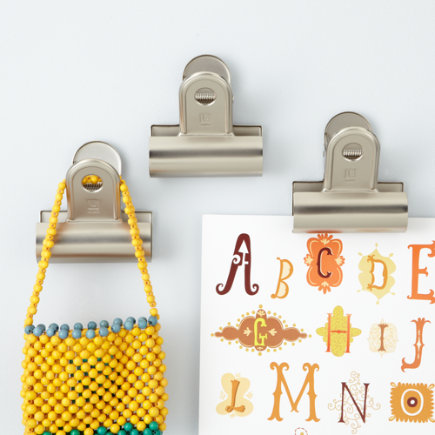 Kids Storage: Kids Wall Mounted Clips - Clip Hook Set of 3