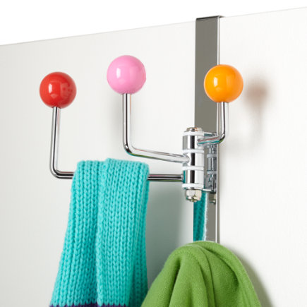Kids Storage: Kids Over The Door Hook - Red/Pink/Orange Door Hook