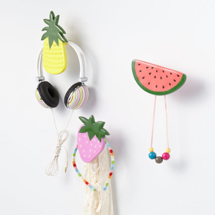 Fresh Fruit Wall Hook - Strawberry Fresh Fruit Wall Hook