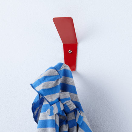 Kids Storage: Kids Wall Hook - Red Every Which Way Wall Hook